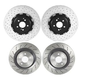 Brembo Front and Rear Brake Disc Rotors Kit for MB R230 SL65 AMG Sport Pkg 951