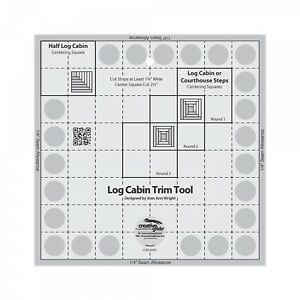 US Seller Creative Grids 8in Log Cabin Blocks Trim Tool Quilt Ruler CGRJAW1 $22.99