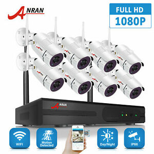 ANRAN Security Camera System Wireless 8CH NVR Wifi Outdoor 1080P HD CCTV Night