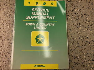 1999 Chrysler Town Country Limited Service Manual Supplement OEM $6.95