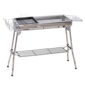 41quot; x 13quot; Stainless Steel Folding Portable Charcoal Barbecue BBQ Grill