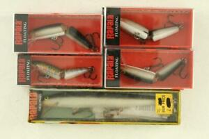 MODERN 5PC Lot Fishing Lures NOS Boxed RAPALA Jointed & Floating Lure 13S