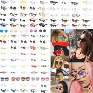 Vintage Fashion Women Kaleidoscope Oversize Square Cat Eye Gradient Sunglasses J