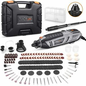 Rotary Tool Kit 1.8 Amp Variable Speed with Upgraded Flex Shaft 63 Accessories