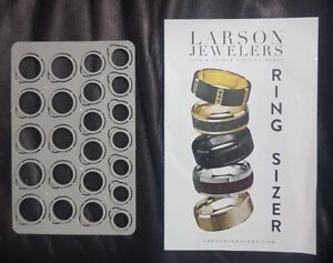 Larson Jewelers Ring Sizer Finger Plastic Grey Size From 4 15 New $7.99