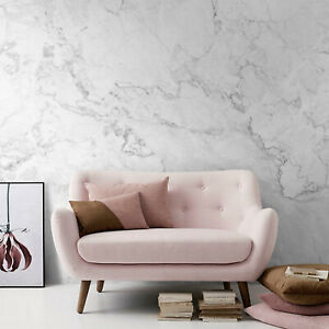 White Marble Removable Wallpaper Stone Texture Peel Stick Self Adhesive Pattern