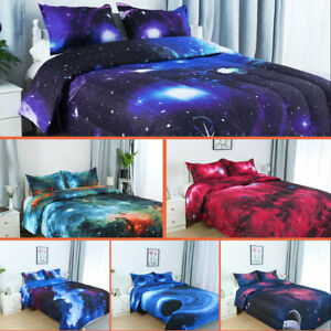 TwinFullQueen Galaxies Comforter Set All-season Down Quilted Duvet Reversible