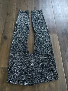"NWOT Lululemon Align Pant 78's High Rise 24 Night View Blk & Wht 25""Soft Nulux"