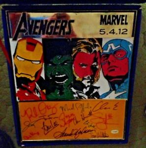 EXTREMELY RARE Avengers METAL art signed by the cast ONLY 15 EXIST HTF Stan Lee