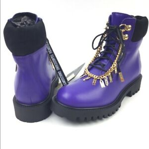Moschino X H&M Purple Combat Boots US 7- SOLD OUT
