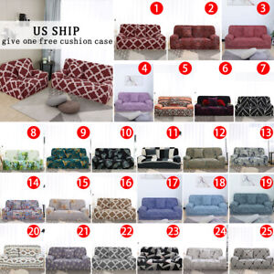 1 2 3 4 Seater Stretch Sofa Cover Floral Couch Cover Protector Elastic Slipcover