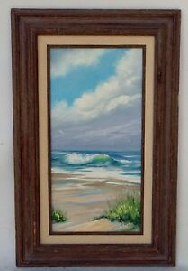 ORIGINAL OIL ON CANVAS SEASCAPE PAINTING SIGNED