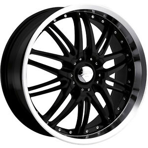 Platinum Apex 200 16x7 4x1004x108 (4x4.25) +40mm Black Wheels Rims 200-6701B
