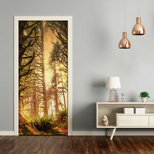 Self adhesive Door Wall wrap removable Peel & Stick Landscapes the rainforest