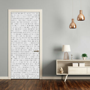 Self adhesive Door Wall wrap removable Peel & Stick Decal Binary code