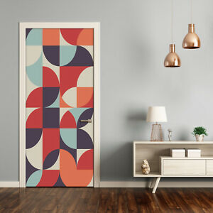 Self adhesive Door Wall wrap removable Peel & Stick Decal Abstract background