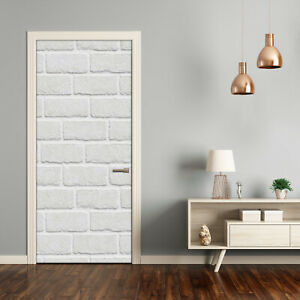 Self adhesive Door Wall wrap removable Peel & Stick Decal Brick wall