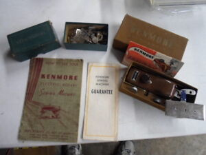 VINTAGE KENMORE SEWING MACHINE ACCESSORIES amp; MANUAL BUTTONHOLER $29.99