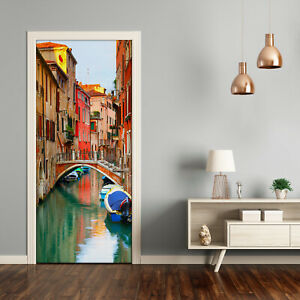 Self adhesive Door Wall wrap removable Peel & Stick Architecture Venice Italy