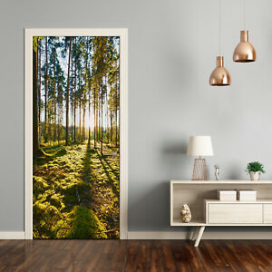 Self adhesive Door Wall wrap removable Peel & Stick Landscapes a pine forest