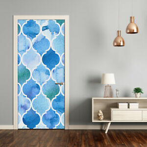 Self adhesive Door Wall wrap removable Peel & Stick Decal Moroccan background