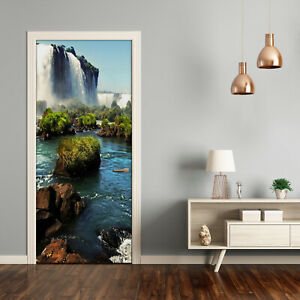 Self adhesive Door Wall wrap removable Peel & Stick Landscapes Waterfall Igaz