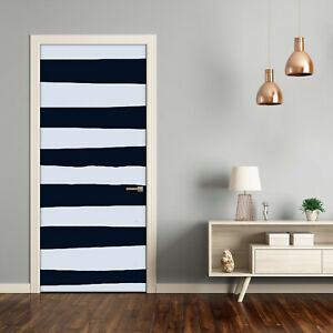 Self adhesive Door Wall wrap removable Peel & Stick Decal Striped background