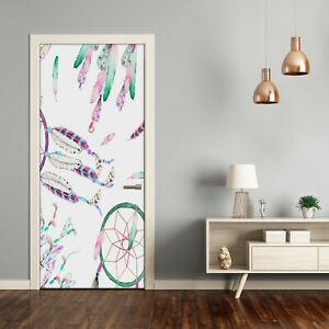 Self adhesive Door Wall wrap removable Peel & Stick Decal Dream catchers
