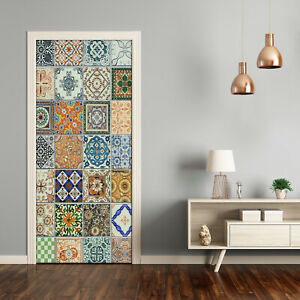 Self adhesive Door Wall wrap removable Peel & Stick Decal Ceramic tiles