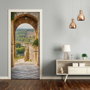 Self adhesive Door Wall wrap removable Peel & Stick Architecture Tuscany Italy