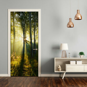 Self adhesive Door Wall wrap removable Peel & Stick Landscape Forest landscape