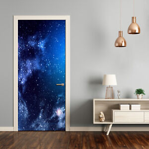 Self adhesive Door Wall wrap removable Peel & Stick Decal Universe Nebula