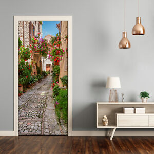 Self adhesive Door Wall wrap removable Peel & Stick Architecture Umbria Italy