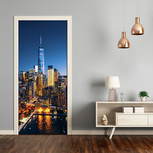 Self adhesive Door Wall wrap removable Peel & Stick Architecture New York City