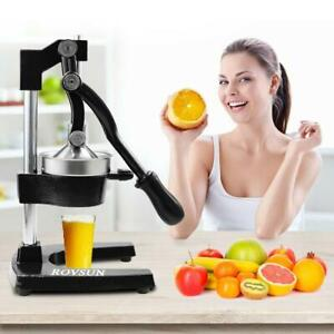 Hand Press Juicer Orange Squeezer Commercial Home Manual juice Long Lifespan BLK