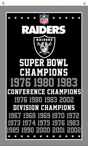 Oakland Raiders Champions Memorable Football flag 90x150cm 3x5ft best banner