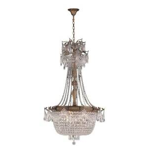 Winchester Collection 10 Light Antique Bronze Finish and Clear Crystal