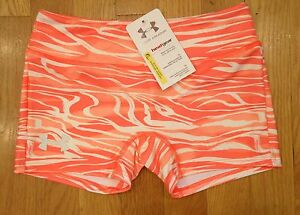 NWT UNDER ARMOUR COMPRESSION SHORTS SPANKIES FITTED ANTI ODOR GIRLS LARGE $14.39