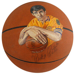 Pistol Pete Maravich Autographed Signed Voit Basketball With Painting JSA Y87752