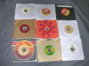 LOT OF (100) 45RPM RECORDS - COUNTRY / WESTERN - W/SLEEVES