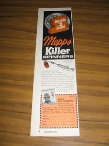 1974 Print Ad Mepps Killer Spinners Fishing Lures AntigoWI