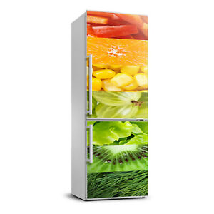 3D  Refrigerator Self Adhesive Removable Sticker Food Fruits and vegetables