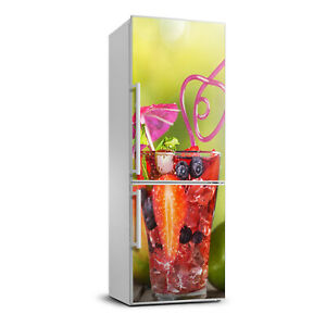 3D  Refrigerator Self Adhesive Removable Sticker Decal Food Fruit cocktail