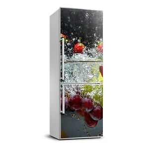 3D  Refrigerator Wall Self Adhesive Removable Sticker Food Fruit under water