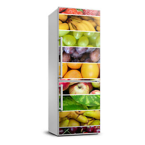 3D  Refrigerator Self Adhesive Removable Sticker Decal Food Colorful fruits