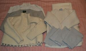 Felted wool cutter sweaters & fabric, light colors, approx 5.5 lbs total weight
