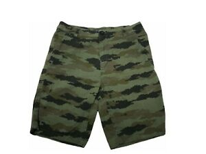 Valor Collective Camo Camouflage Shorts Mens Size 30 Green and Black 100% Cotton