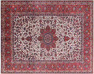 Antique Oriental Cotton Foundation Excellent Condition Rug 10'6