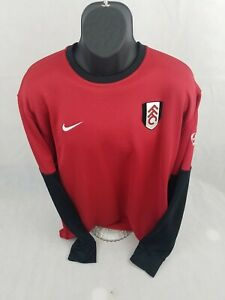 Nike Fit Dry Mens Long Sleeve Sweater Pullover Xxl FFC red black soccer $19.99