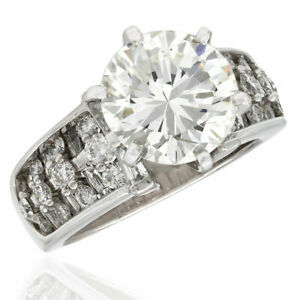 GIA certified 4.07ct VS1 H Christopher Designs Diamond Ring in Platinum